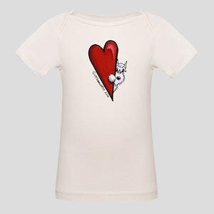 White Schnauzer Lover Organic Baby T-Shirt