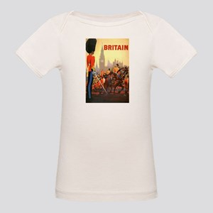 Vintage Travel Poster, Britai Organic Baby T-Shirt