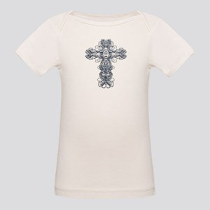 Wire Cross with Miraculous Medal Organic Baby T-Sh