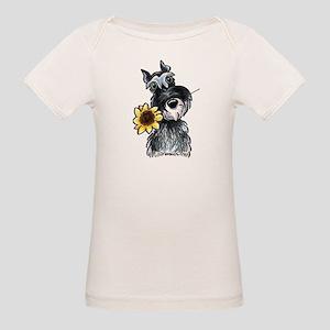 Sunflower Schnauzer Organic Baby T-Shirt