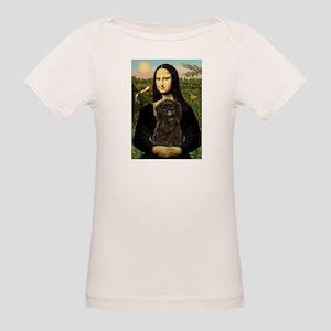 Mona Lisa & Affenpinscher Organic Baby T-Shirt