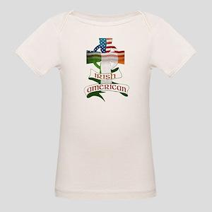 Irish American Celtic Cross Organic Baby T-Shirt