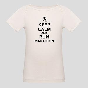 Keep calm and run Marathon Organic Baby T-Shirt