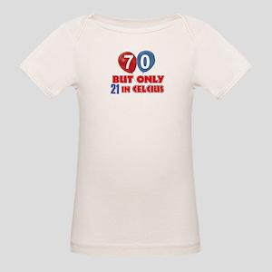 70 year old designs Organic Baby T-Shirt
