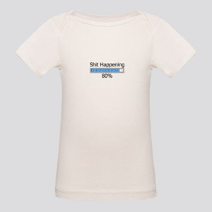 Shit Happening Progress Bar Organic Baby T-Shirt