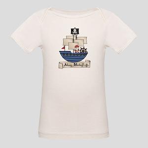 Ahoy Matey Pirate Organic Baby T-Shirt