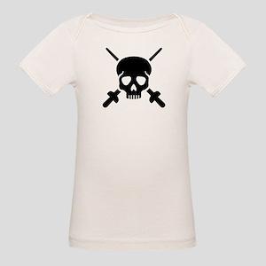 Fencing skull Organic Baby T-Shirt