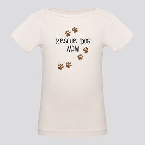 Rescue Dog Mom Organic Baby T-Shirt