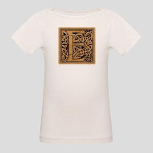 Celtic Monogram E Organic Baby T-Shirt