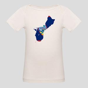 Guam Flag and Map Organic Baby T-Shirt