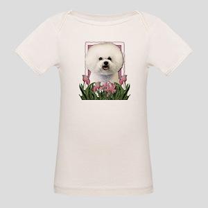 Mothers Day Pink Tulips Bichon Organic Baby T-Shir