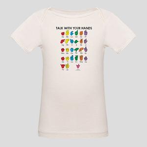 Learn Sign Language Organic Baby T-Shirt