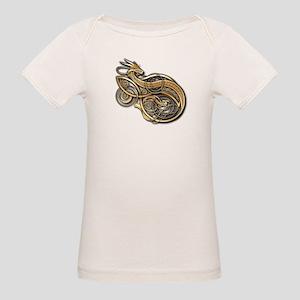 Gold Norse Dragon Organic Baby T-Shirt