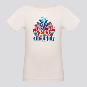 Happy 4th of July Organic Baby T-Shirt