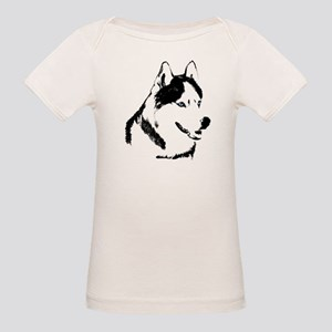 Siberian Husky Sled Dog Organic Baby T-Shirt