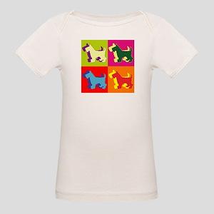 Scottish Terrier Silhouette Pop Art Organic Baby T