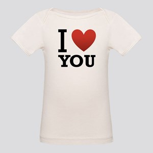I Love You Organic Baby T-Shirt