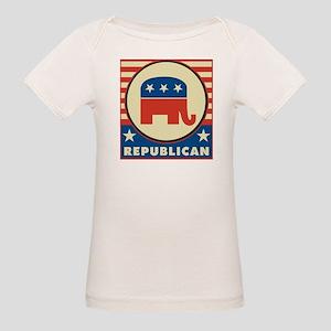 Retro Republican Organic Baby T-Shirt