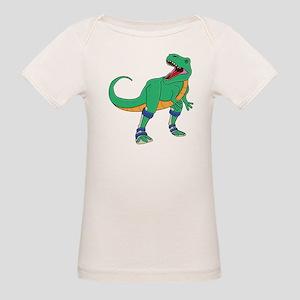 Dino with Leg Braces Organic Baby T-Shirt