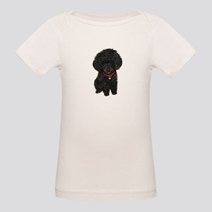 Poodle pup (blk) Organic Baby T-Shirt