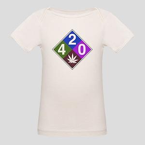 420 caution blue Organic Baby T-Shirt