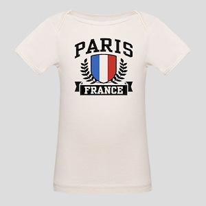 Paris France Organic Baby T-Shirt