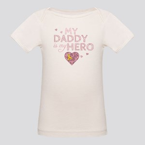 My Daddy is my Hero - Organic Baby T-Shirt