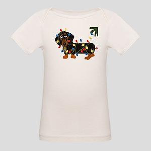 Dachshund (Blk/Tan)... Organic Baby T-Shirt