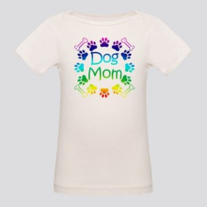 """Dog Mom"" Organic Baby T-Shirt"