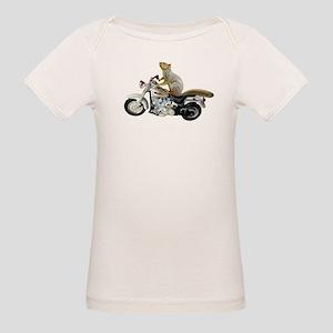 Motorcycle Squirrel Organic Baby T-Shirt