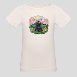 Blossoms-Black Cocker Organic Baby T-Shirt