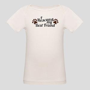 Rescued Dog Best Friend Organic Baby T-Shirt
