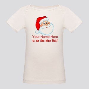 Personalized Nice List Organic Baby T-Shirt