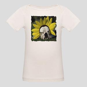BULLDOG SUNFLOWER Organic Baby T-Shirt