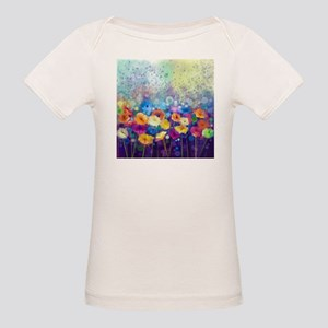 Floral Painting Organic Baby T-Shirt