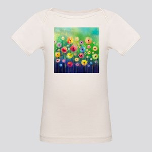 Watercolor Flowers Organic Baby T-Shirt