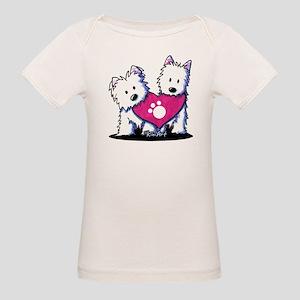 Valentine Westies Organic Baby T-Shirt