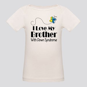 Down Syndrome Brother Organic Baby T-Shirt