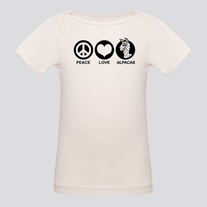 Peace Love Alpacas Organic Baby T-Shirt