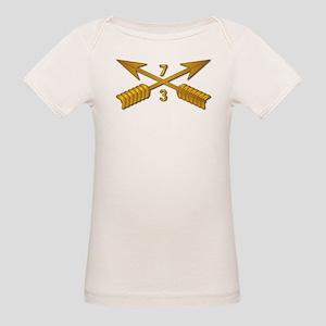 3rd Bn 7th SFG Branch wo Txt Organic Baby T-Shirt