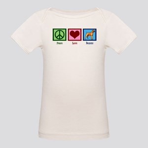 Peace Love Boxer Dog Organic Baby T-Shirt