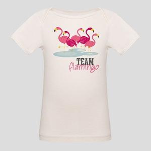 Team Flamingo Organic Baby T-Shirt