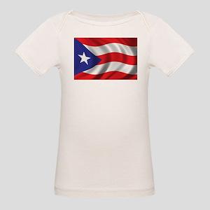 Flag of Puerto Rico Organic Baby T-Shirt