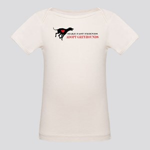 Adopt a Greyhound Organic Baby T-Shirt