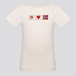 Peace, Love and Norway Organic Baby T-Shirt