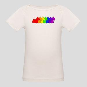 Rainbow Scottie Organic Baby T-Shirt