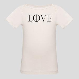 Love Peace Sign Organic Baby T-Shirt