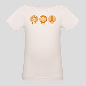 Peace Love Orange Hope Organic Baby T-Shirt
