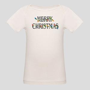 Merry Christmas Organic Baby T-Shirt
