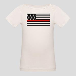 Firefighter: Black Flag & Red Organic Baby T-Shirt